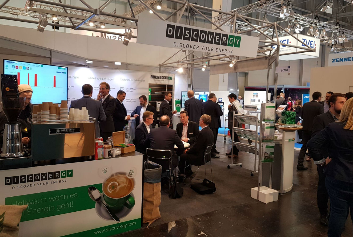 Messestand von Discovergy