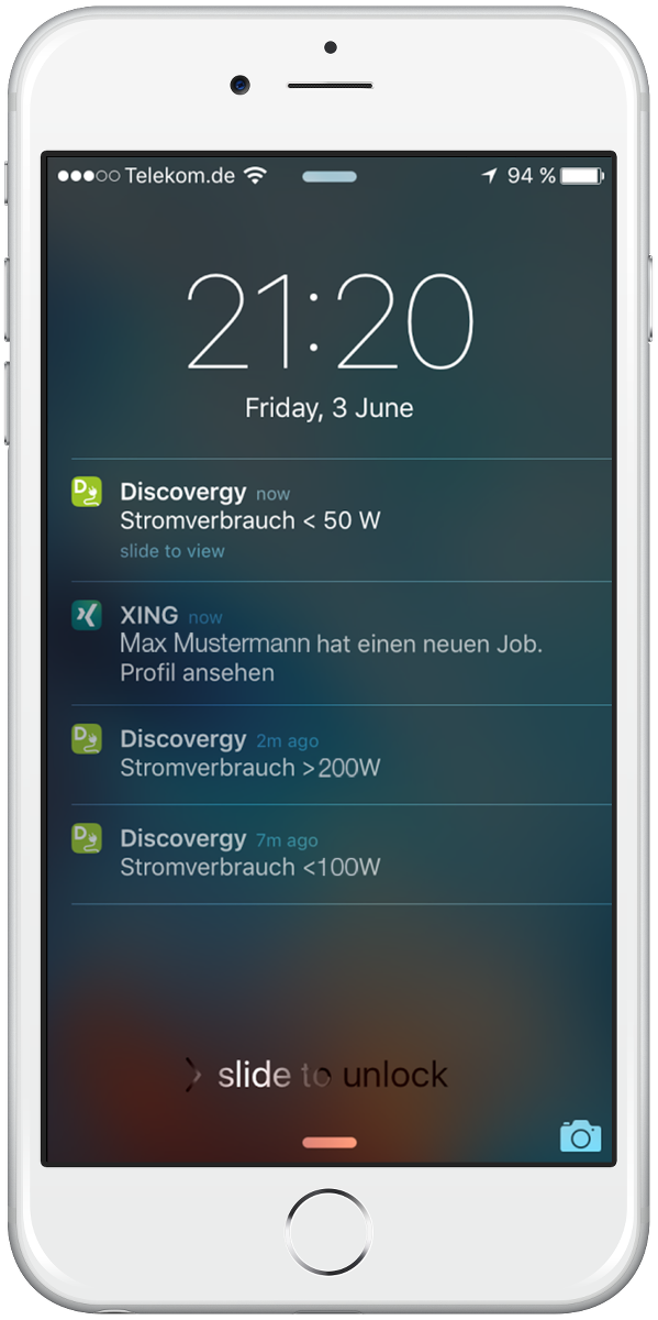 Alerts on the Discovergy App